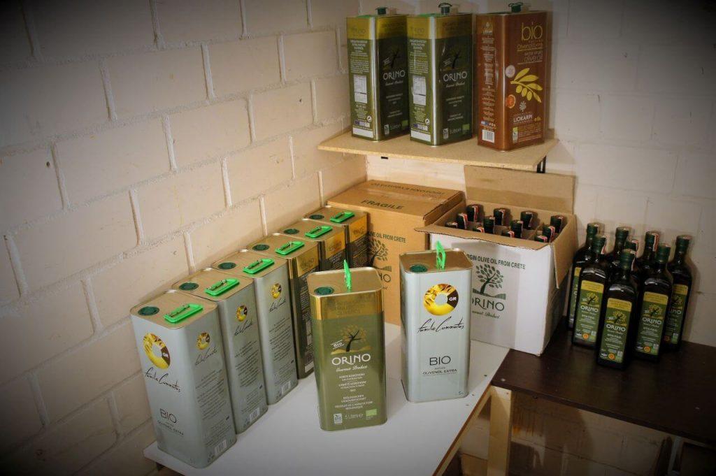 Olivenöl Lagerung