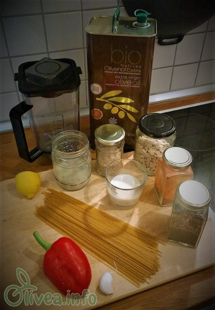 Paprika-Creme-Sauce Zutaten Olivea